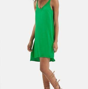 Topshop Kelly Green Slip Dress